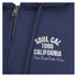Soul Cal Men's Sleeve Print Logo Zip Through Hoody - Navy: Image 3