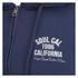 Soul Cal Men's Sleeve Print Logo Zip Through Hoody - Navy: Image 3