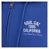 Soul Cal Men's Sleeve Print Logo Zip Through Hoody - Cobalt Blue: Image 3