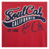 Soul Cal Men's Cracked Print T-Shirt - Ribbon Red: Image 3