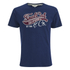 Soul Cal Men's Cracked Print T-Shirt - Navy: Image 1