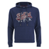 Soul Cal Men's Cracked Print Logo Hoody - Navy: Image 1