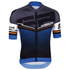 Santini Interactive 3.0 Short Sleeve Jersey - Blue: Image 2