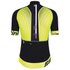Santini Sleek 2.0 Aero Short Sleeve Jersey - Black/Yellow: Image 2