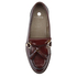 Hudson London Women's Britta Hi Shine Tassle Loafers - Bordo: Image 3