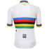 Santini UCI World Road Champion Short Sleeve Jersey - White: Image 3