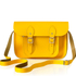 The Cambridge Satchel Company Women's 11 Inch Leather Satchel with Branded Hardware - Yellow: Image 1