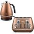 De'Longhi Distinta 4 Slice Toaster and Kettle Bundle - Copper Finish: Image 1