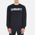 Carhartt Men's College Sweatshirt - Navy/White: Image 1
