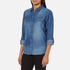 ONLY Women's Denim Shirt - Medium Blue Denim: Image 2