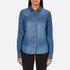 ONLY Women's Denim Shirt - Medium Blue Denim: Image 1