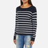 ONLY Women's Mila Stripe Long Sleeve Top - Night Sky: Image 2