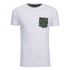 Brave Soul Men's Pulp Camo Pocket T-Shirt - White: Image 1