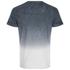 Threadbare Men's Dunbar Print Dip Dye T-Shirt - Grey: Image 2