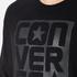 Converse Men's All Star Rubber Graphic Crew Neck Sweatshirt - Black: Image 5