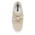 Senso Women's Annie Front Bow Leather Slip On Trainers - Sand: Image 3