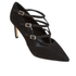 Dune Women's Carbon T Bar Suede Court Shoes - Black: Image 2