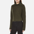 Carven Women's Fold Over Collar Cropped Jumper - Khaki: Image 2