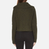 Carven Women's Fold Over Collar Cropped Jumper - Khaki: Image 3