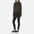 Carven Women's Fold Over Collar Cropped Jumper - Khaki: Image 4