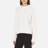 Carven Women's Cable Knit Cropped Jumper - Cream: Image 2