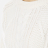 Carven Women's Cable Knit Cropped Jumper - Cream: Image 5