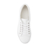 ETQ. Men's Low Top 1 Leather Trainers - White: Image 3
