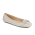MICHAEL MICHAEL KORS Women's Fulton Leather Moc Pumps - Cement: Image 2