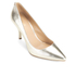 MICHAEL MICHAEL KORS Women's MK Flex Leather Court Shoes - Pale Gold: Image 2
