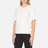 MSGM Women's Side Ruffle Short Sleeve Top - White: Image 2