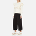 MSGM Women's Ripped Effect Frill Sweatshirt - Cream: Image 4