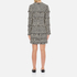 MSGM Women's Dog Tooth Fringed Dress - Multi: Image 3