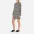 MSGM Women's Dog Tooth Fringed Dress - Multi: Image 2
