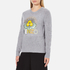 KENZO Women's Flower Logo Knitted Jumper - Light Grey: Image 2