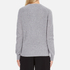 KENZO Women's Flower Logo Knitted Jumper - Light Grey: Image 3