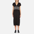 KENZO Women's Stripe Logo Mid Cotton Dress - Black: Image 1