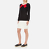 Boutique Moschino Women's Red Bow Jumper Dress - Black: Image 2