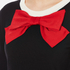 Boutique Moschino Women's Red Bow Jumper Dress - Black: Image 4
