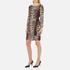 Boutique Moschino Women's Zip Pleat Dress - Leopard: Image 2