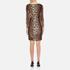 Boutique Moschino Women's Zip Pleat Dress - Leopard: Image 3