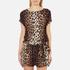 Boutique Moschino Women's Tie Waist Playsuit - Leopard: Image 1