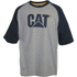 Caterpillar Men's Raglan Trademark T-Shirt - Grey: Image 1