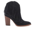 Sam Edelman Women's Benjie Leather Tassle Heeled Ankle Boots - Black: Image 1