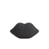Lulu Guinness Women's Powder Coated Lips Clutch - Black: Image 5