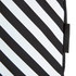 Lulu Guinness Women's Larysa 50:50 Lips Large Stripe Tote Bag - Black/White/Red: Image 7