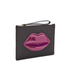 Lulu Guinness Women's Grace Medium Lips Clutch - Black/Casis: Image 3