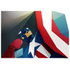 Captain America Inspired Illustrative Art Print - 11.7 x 16.5 Inches: Image 1