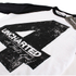 Uncharted 4 Herren Distressed 4 langärmlige Raglan Top - Weiss/Schwarz: Image 2