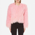 Charlotte Simone Women's Classic Fuzz Jacket - Pink - S/M: Image 1