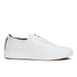 Vivienne Westwood MAN Men's Embossed Squiggle Leather Oxford Trainers - White: Image 1